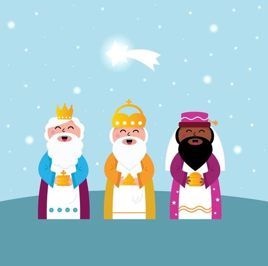 Three Multicultural Kinds : Character design, unique Hand drawing / New art in shop. Authors Illustration. 3Kings Cheerful Purple, Gold, Elegant, Brightstar Smiling
