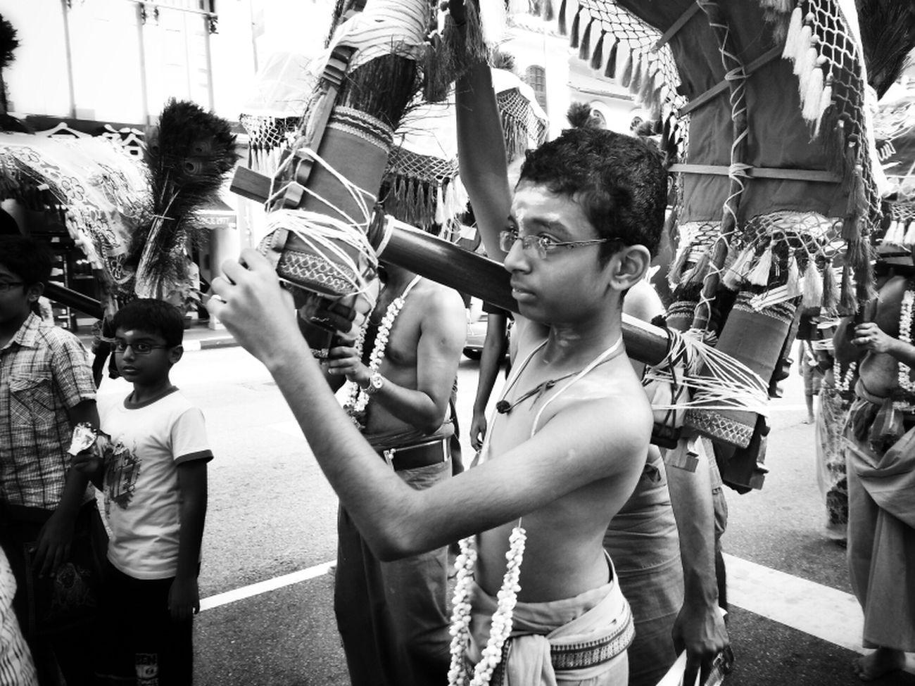 Streetphotography Blackandwhite Thaipusam 2013