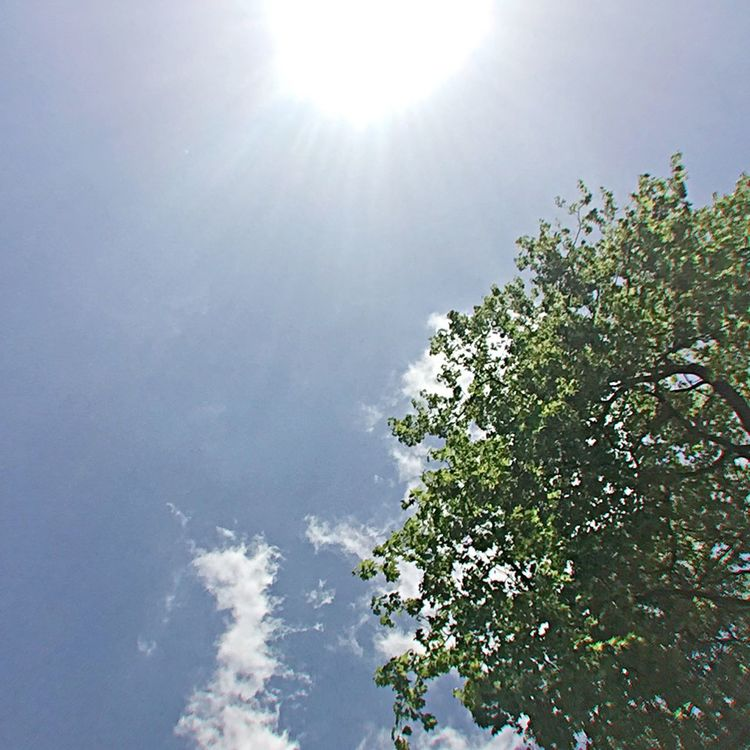 Sunshine Blue Sky Wisp Clouds Lunchtime Grosvenorsquare London Beautiful