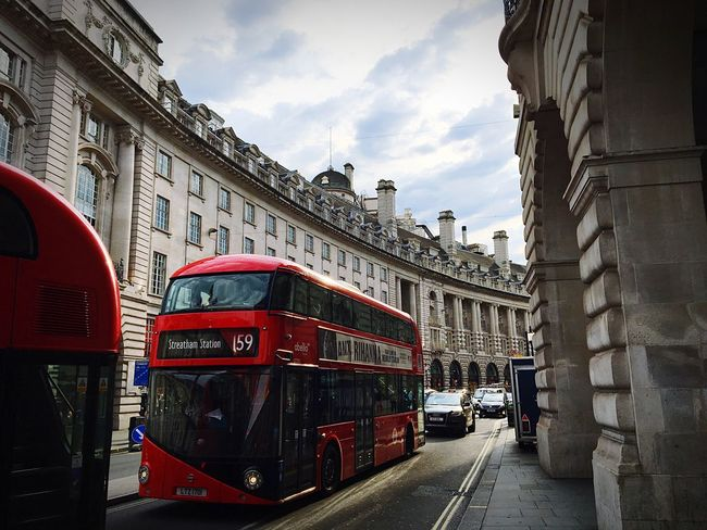 Transportation Mode Of Transport Architecture Built Structure Land Vehicle Public Transportation Street Building Exterior Car City Travel On The Move Bus Road Cable Car City Life Sky Cloud - Sky City Street Public Transport Regentstreet London First Eyeem Photo