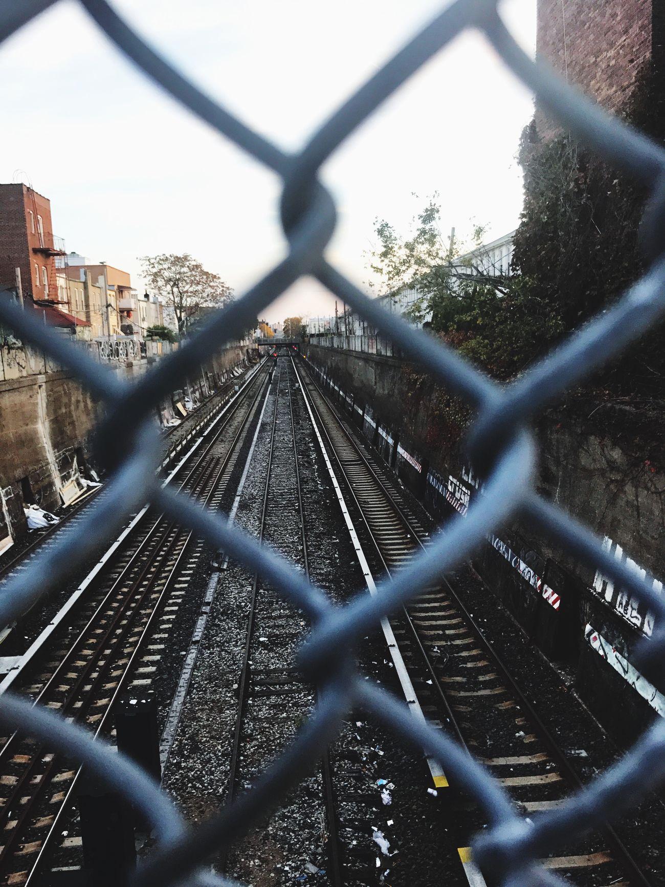 All Fenced in!! Brooklyn Railroad Track Tracks Chainlink Fence Choo Choo New York New York City NYC