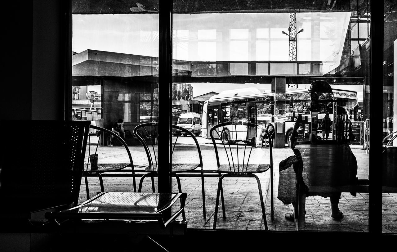 window, indoors, day, real people, one person, people
