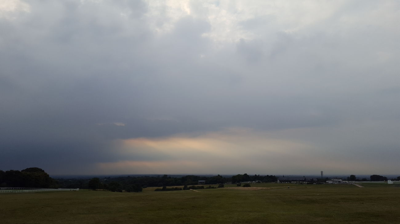 Outside Taking Photos Outdoors Summer Evening Sky Dusk Moody Sky From My Point Of View Epsom Downs Racecourse Epsom Downs