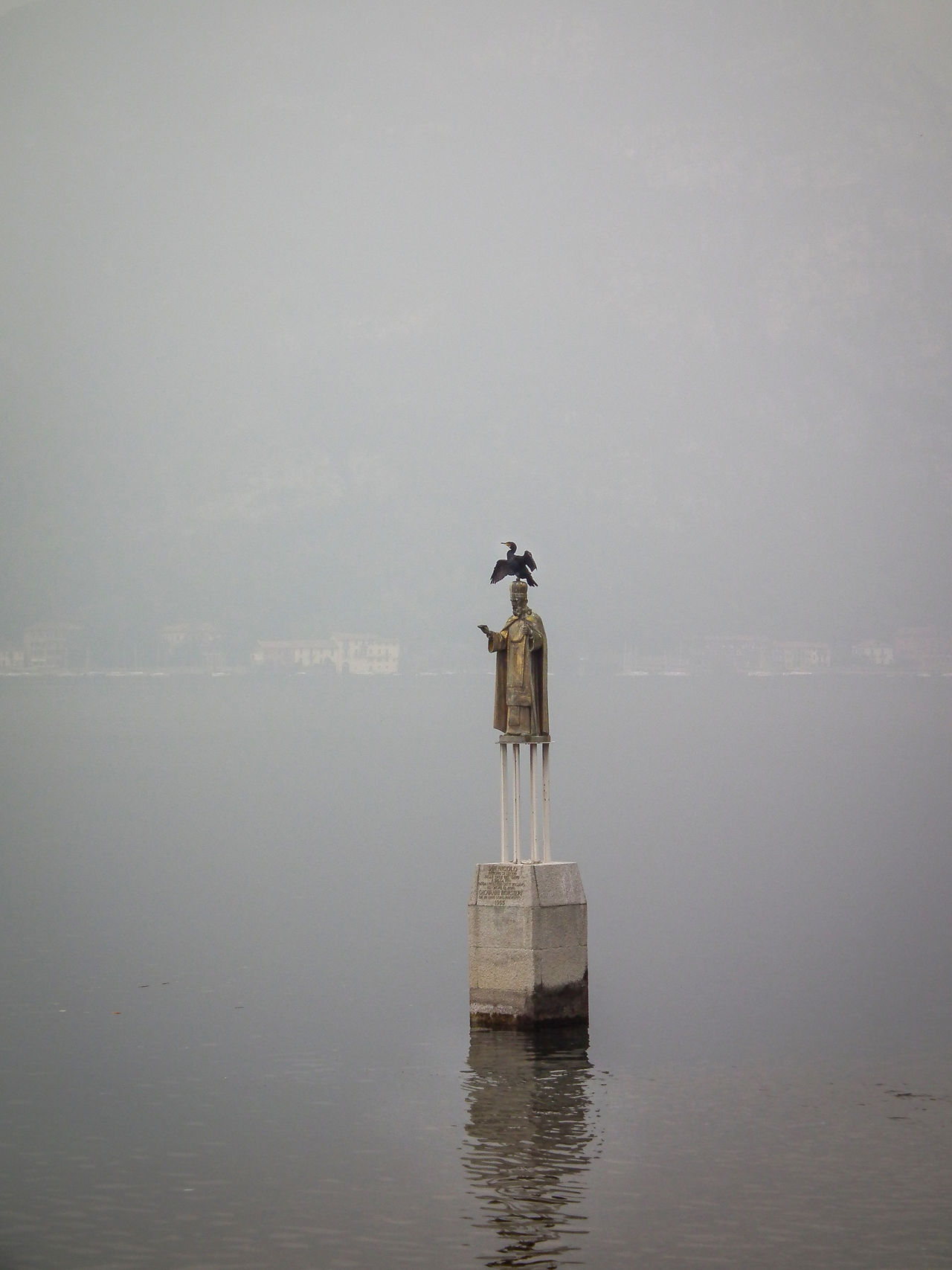 Beauty In Nature Bird Birds Day Horizon Over Water Italia Italie Italien Italy Italy❤️ Italy🇮🇹 Lago Di Como Lake Como Lecco Nature No People Outdoors Perching Sea Sky Statue Statue Vogel Water Waterfront