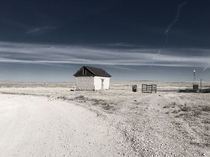 """""""Mystery Ranch"""" No. 5 in series. Outbuilding. Abandoned Buildings Abandoned New Mexico Photography New Mexico Skies New Mexico Ranch Out Buildings Sky No People Day Landscape Architecture"""