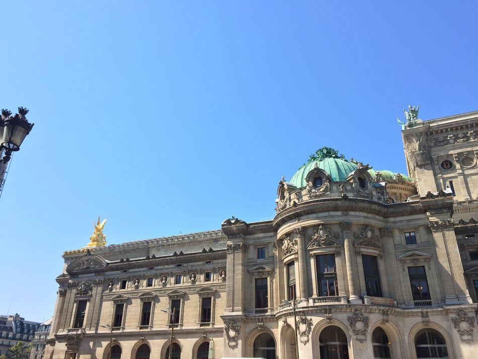 Architecture Blue Blue Sky Day No People Opéra Outdoors Paris Place De L'opéra Sky