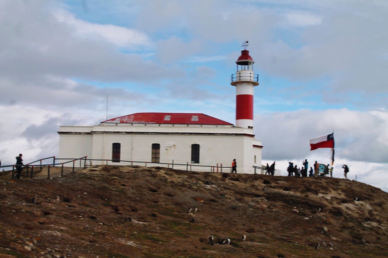 Isla Magdallena, Chile Lighthouse Architecture Tower Building Exterior Beach Landscape Sky Sand Sightseeing Outdoors No People Day Lighthouse_lovers Chile♥ Island Life Chilena Isla Magdalena Travel Destinations Tranquil Scene Travel Photography