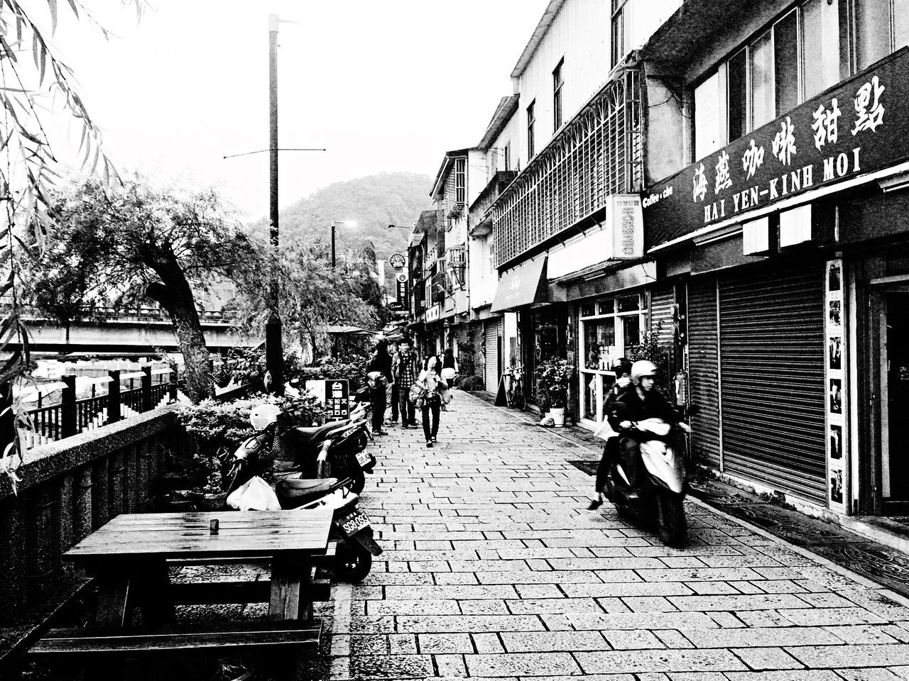 Walking Street? EyeEm Gallery EyeEm Best Shots - Black + White The Tourist Taking Photos Hello World Enjoying Life How Do We Build The World? TOWNSCAPE Street Path People Photography Stone Tree Sanxia