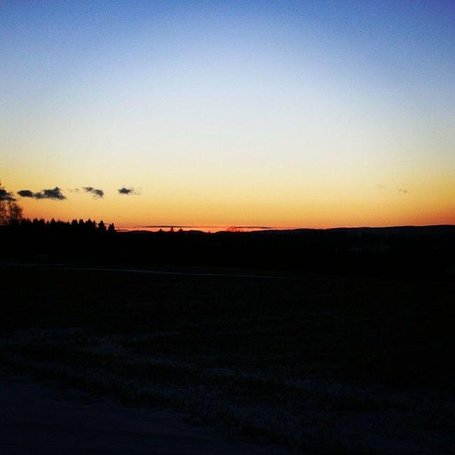 Ilovenorway Ilovenorway_akershus Follo   ås worldunion wu_norway winter frost evening skyline sunset horizon ig_world ig_norway ig_week_skylines ig_week great_human_shots _flutherbug_ field jorde solnedgang horisont