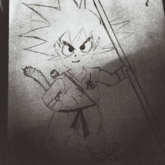 Drawing Dragonball Songoku :) ❤