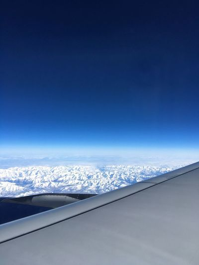 Plain Magnificent View Blue Sky Travel Travel Photography Mountain Fly Nature Beautiful Tranquility