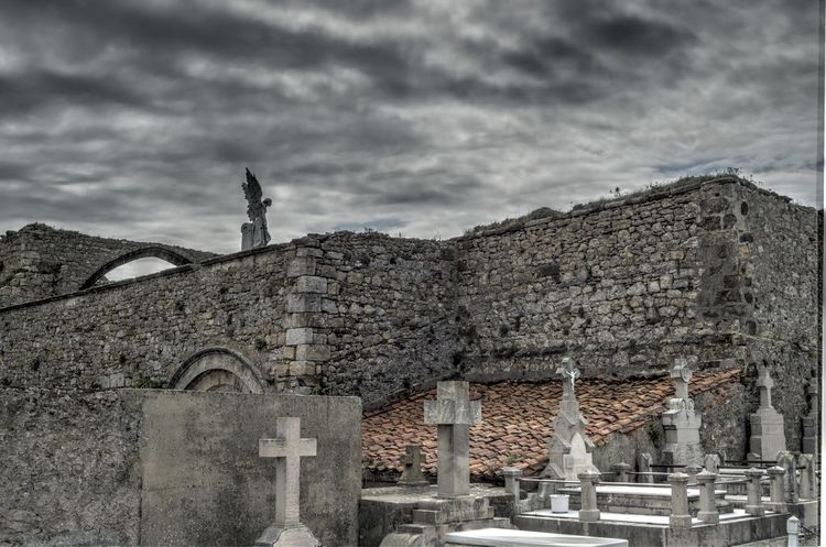 Architecture Falling Angel Graveyard Beauty Grey Day Peaceful Quiet Religion Sky