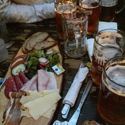 Food And Drink Drink Ready-to-eat Beer Oktoberfest Bavaria Wurstplatte Friends