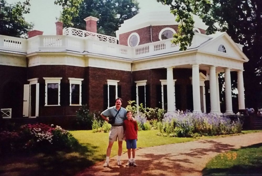 Architecture Building Exterior Father And Son Full Length Monticello Only Men Outdoors People President'shouse Thomas Jefferson