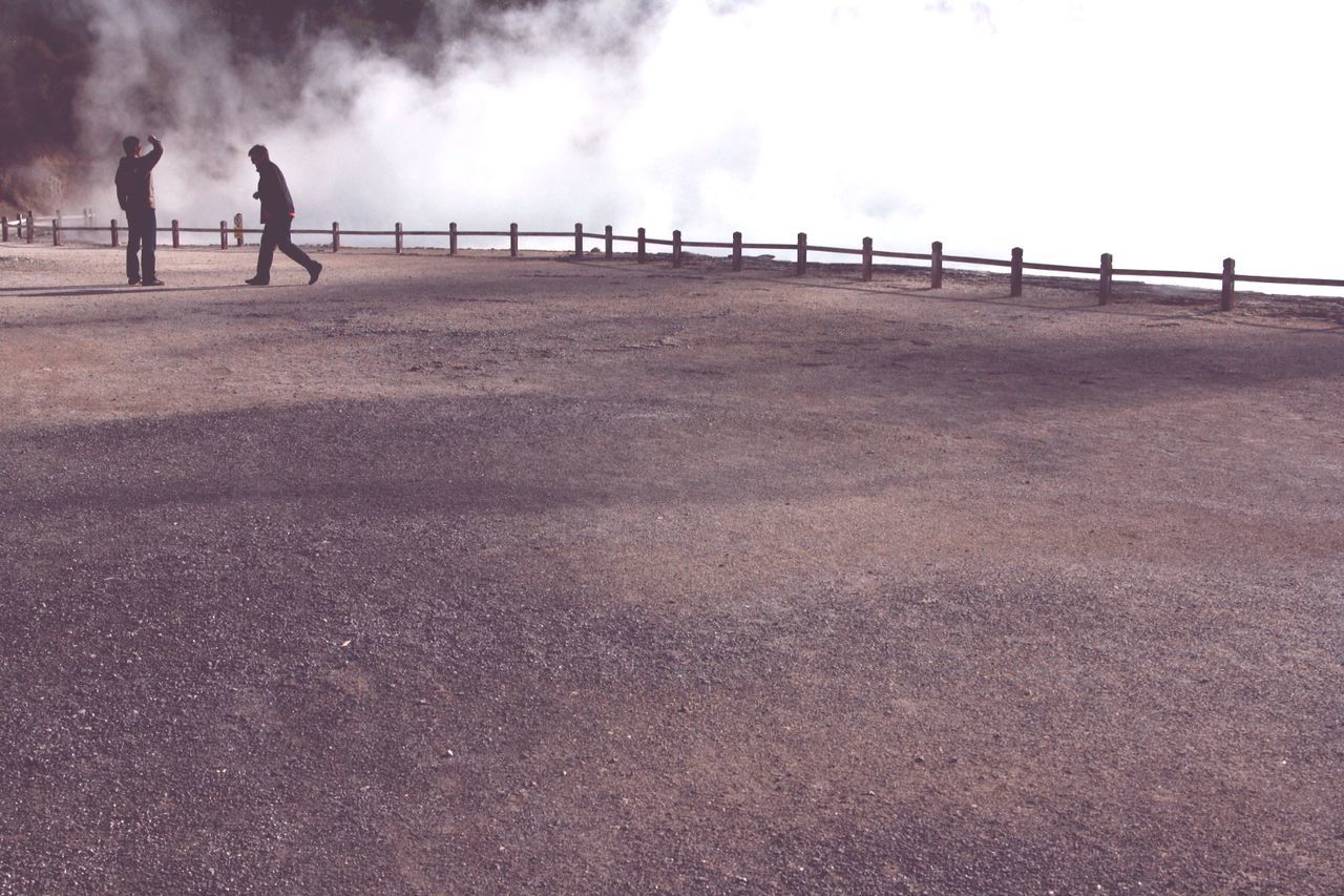 Rotorua New Zealand Steam Waiotapu Waiotaputhermalwonderland Tourists Misty Sulfur  Complicity Fence Lines Natural Landscape Eye4photography  EyeEm Best Shots - Nature Moment