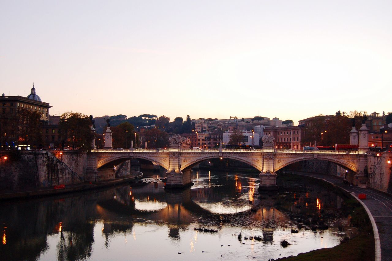 Bridge - Man Made Structure Architecture Connection Built Structure River Arch Bridge Water Building Exterior Reflection Arch Transportation Travel Travel Destinations Tourism Roma Rome Viajando Tourist Attraction  Traveling Travelling Architecture Cityscape Italia Italy❤️ Italy