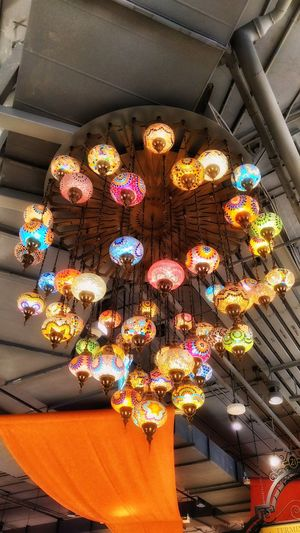 High Angle View No People Multi Colored Design Low Angle View Living Room Decoration Home Showcase Interior Home Interior Indoors  Lanterns Big Lantern