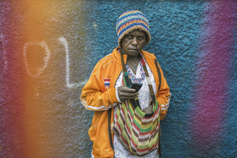We all like colour, don't we? People And Places Streetphotography Papua People Colour Of Life Colorful Woman Portrait The Portraitist - 2017 EyeEm Awards The Street Photographer - 2017 EyeEm Awards EyeEmNewHere Berlin Love