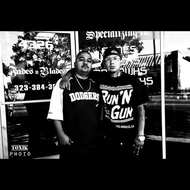 Just Chillen.. KingLilG Sucios Dodgers Hood Chillen BarberShop California LosAngeles SouthGate ToxikPhoto
