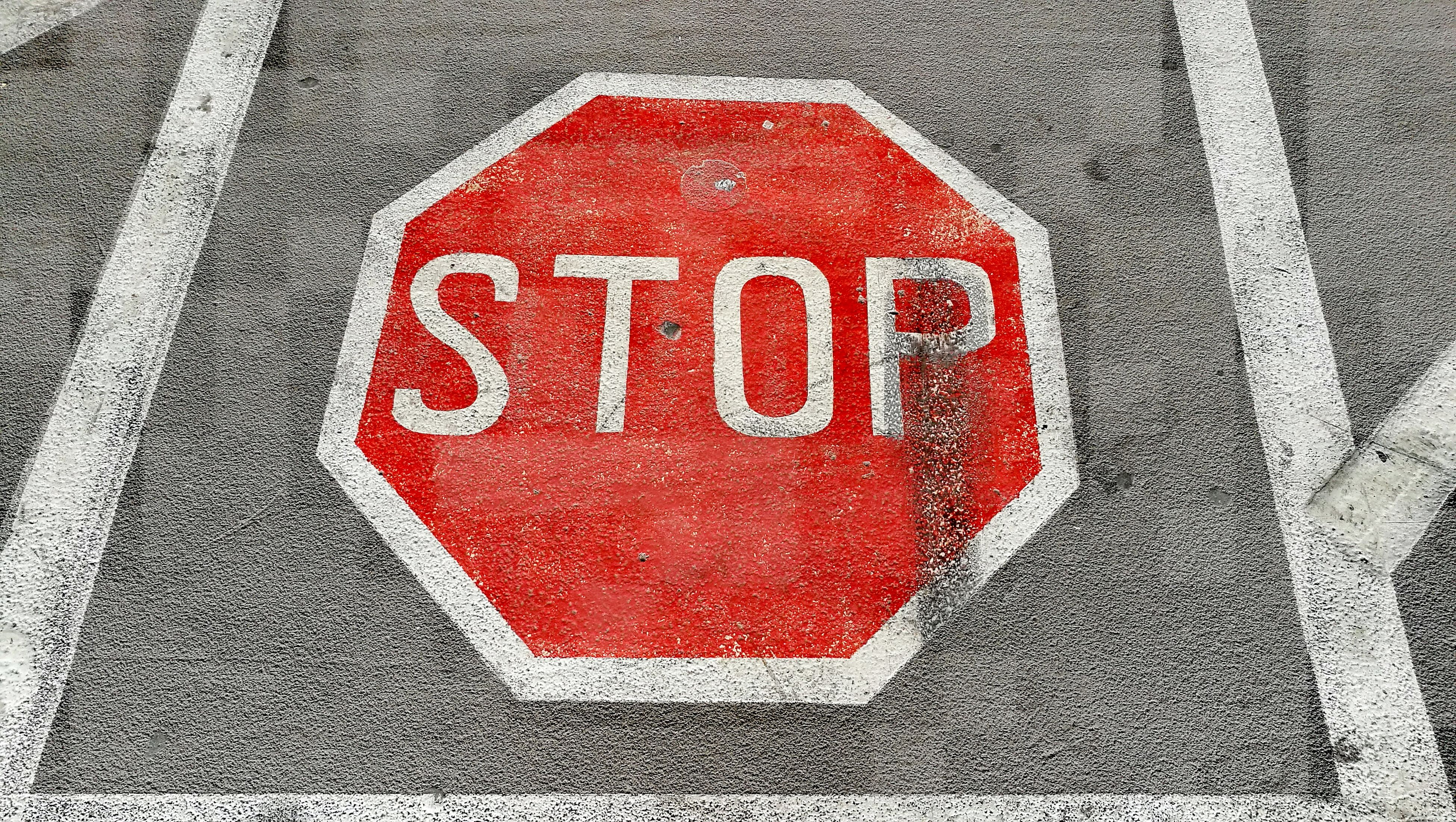 red, text, warning sign, stop sign, danger, communication, day, no people, outdoors, road, close-up, road sign