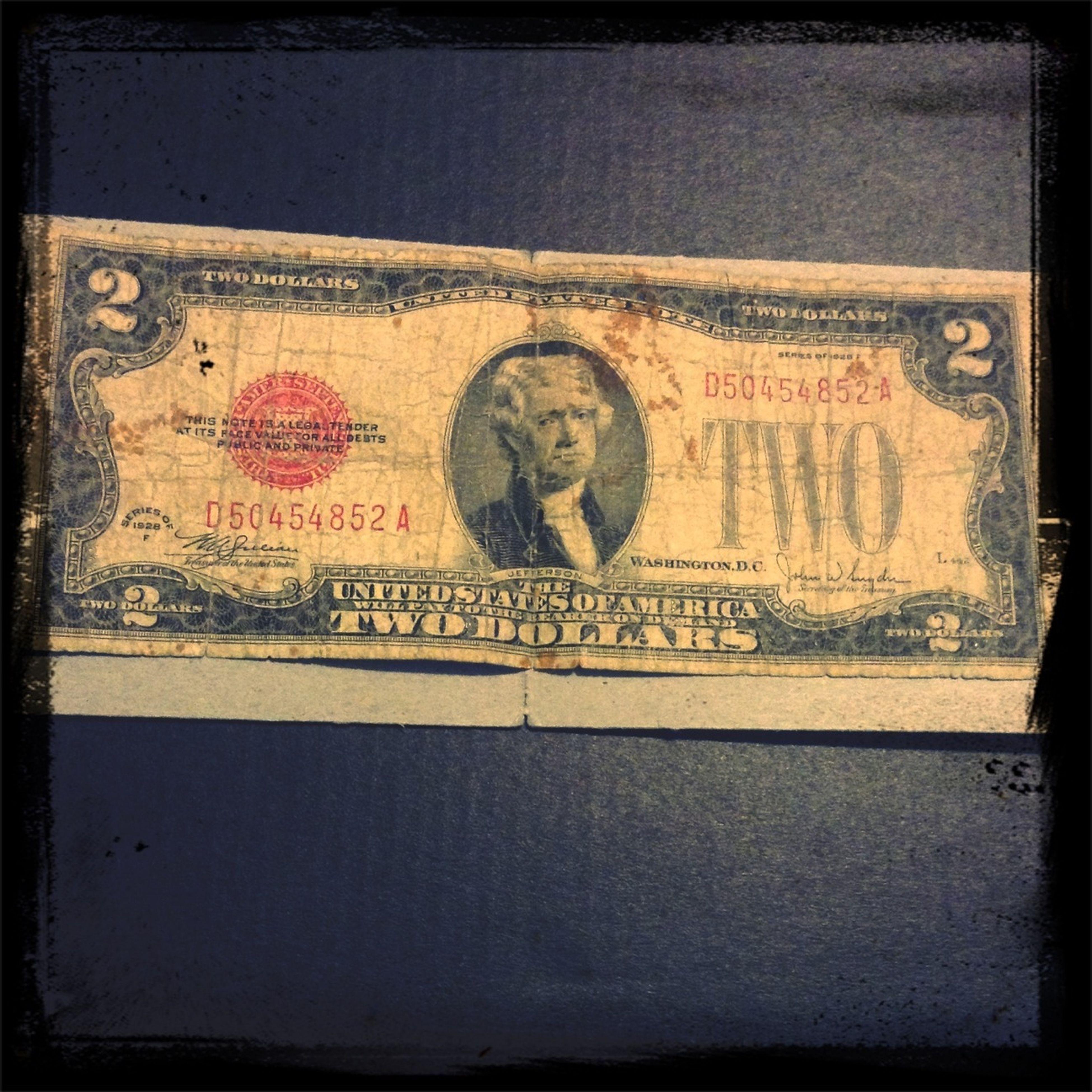 My very old lucky $2 Bill Strange Possessions