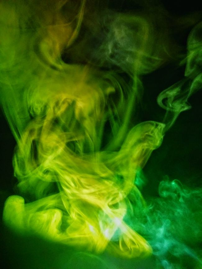 Motion Dreamlike Black Background Smoke Tricks Glowing Illuminated Monsters Exhale Multi Colored Demons All Around Us Photography Blurred Motion Oddities Strange Clouds Smoketricks Smoke♥ Contours Contour Abstract Green Color Extreme Close-up Close-up
