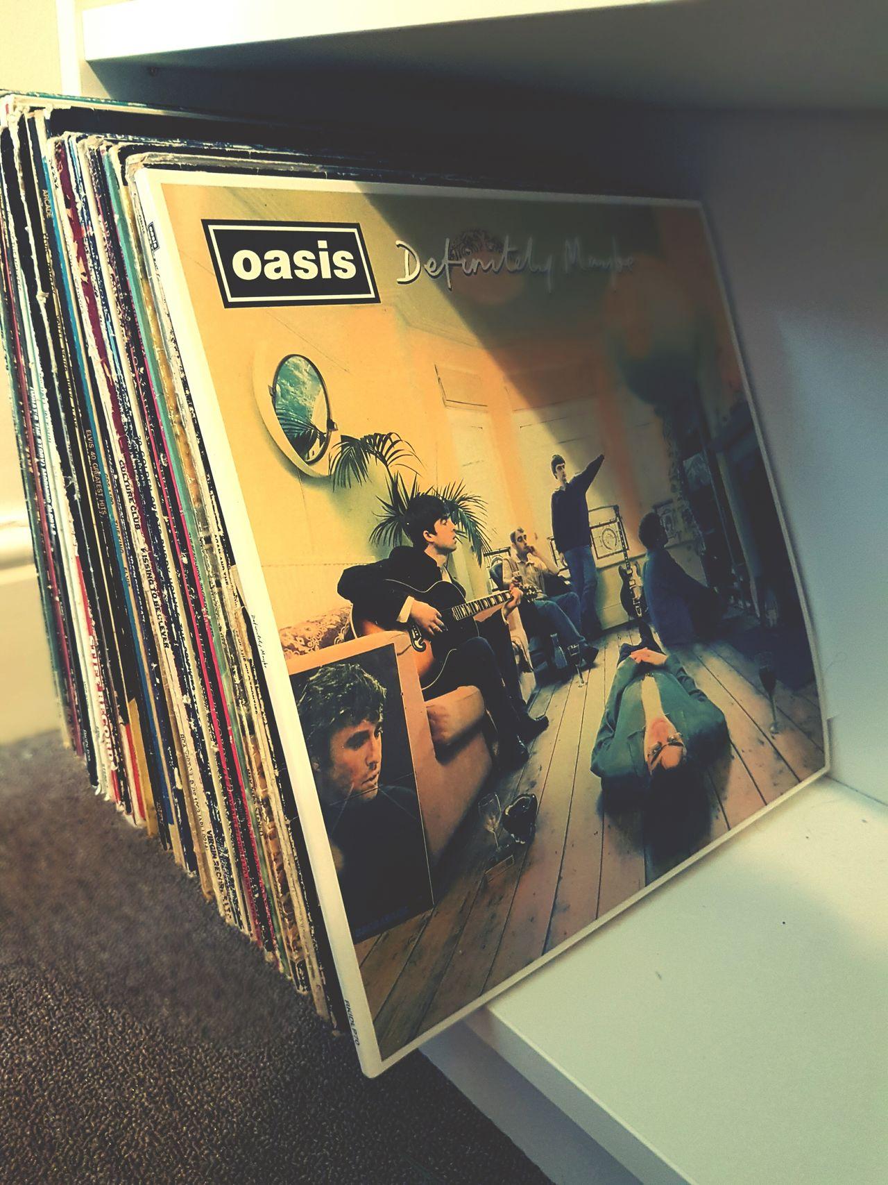Close-up Records Vinyl Vinyl Records Retro Vintage Oasis Definitely Maybe Album Music 90s