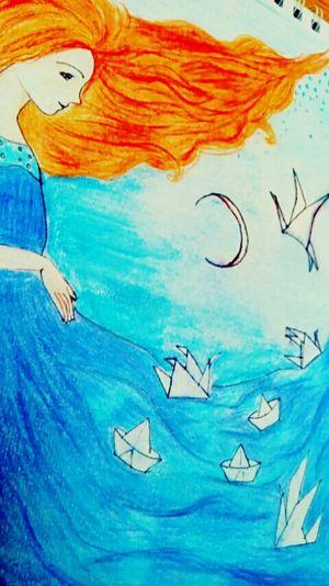 Tu mar aun baña mis orillas.. Pintura Dibujo Mar First Eyeem Photo