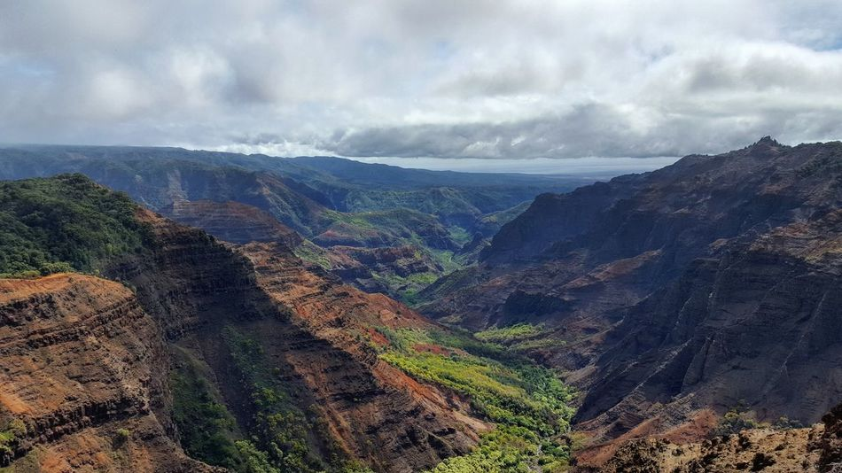 Nature Landscape Beauty In Nature Cloud - Sky Scenics No People Outdoors Sky Day Canyon Waimea Canyon