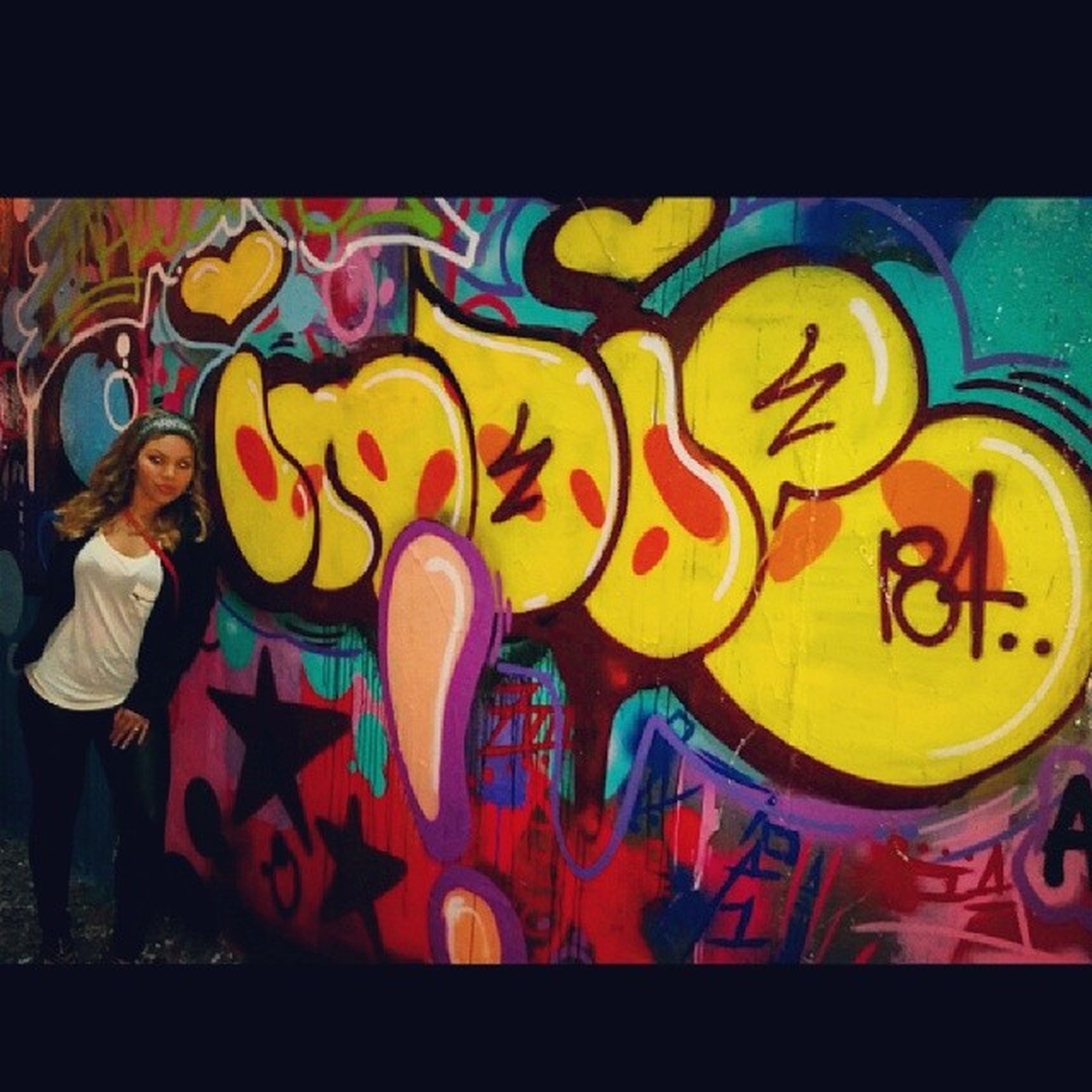graffiti, art, creativity, art and craft, multi colored, human representation, wall - building feature, transfer print, auto post production filter, indoors, text, street art, yellow, built structure, architecture, animal representation, lifestyles