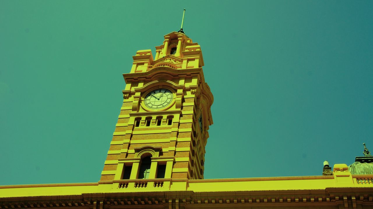 Clock Tower Building Exterior Built Structure Clock Tower Famous Place Flinders St #Melbourne International Landmark Outdoors Time Tower Train Station Minimalist Architecture The City Light