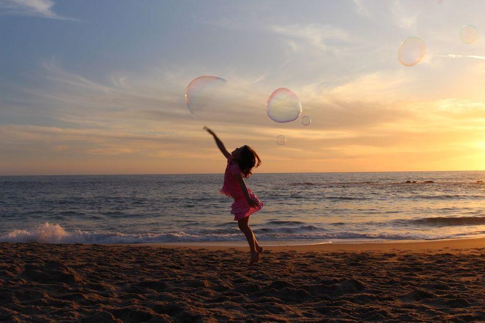 bubbles Jump Kid Beach