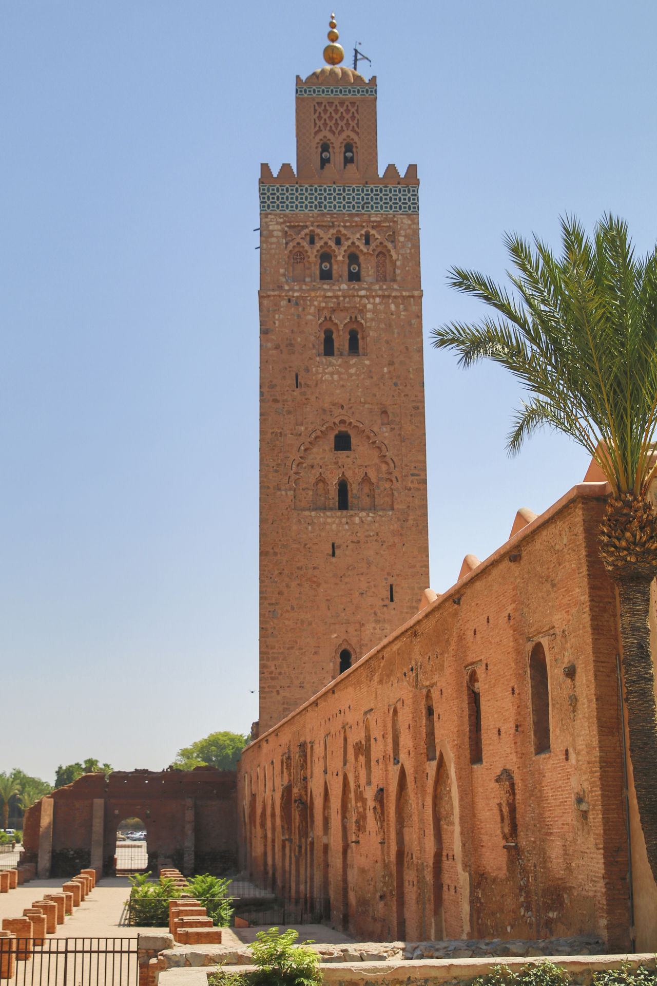 mezquita marrakesh Architecture Building Exterior Clear Sky Marrakesh Morocco No People Sky Tower Travel Travel Destinations