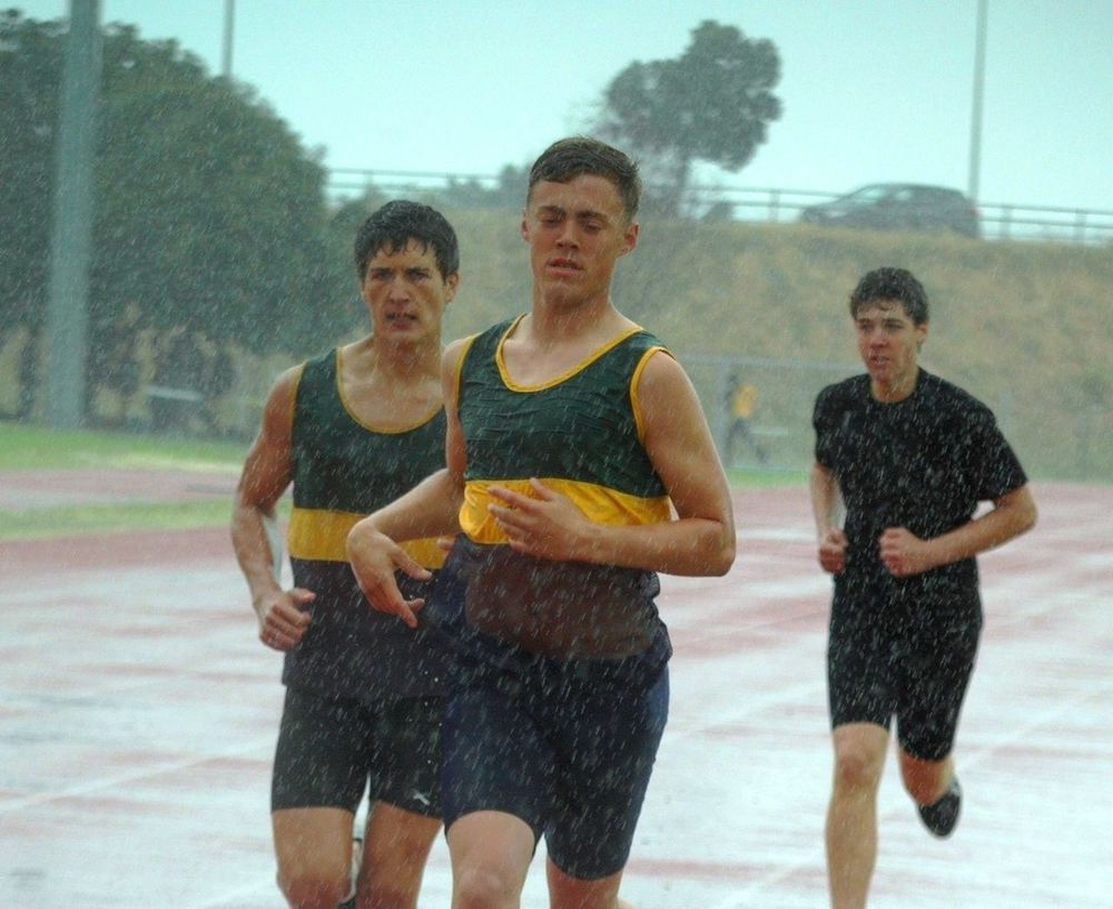 Sport Endurance Racing Running Track Raining