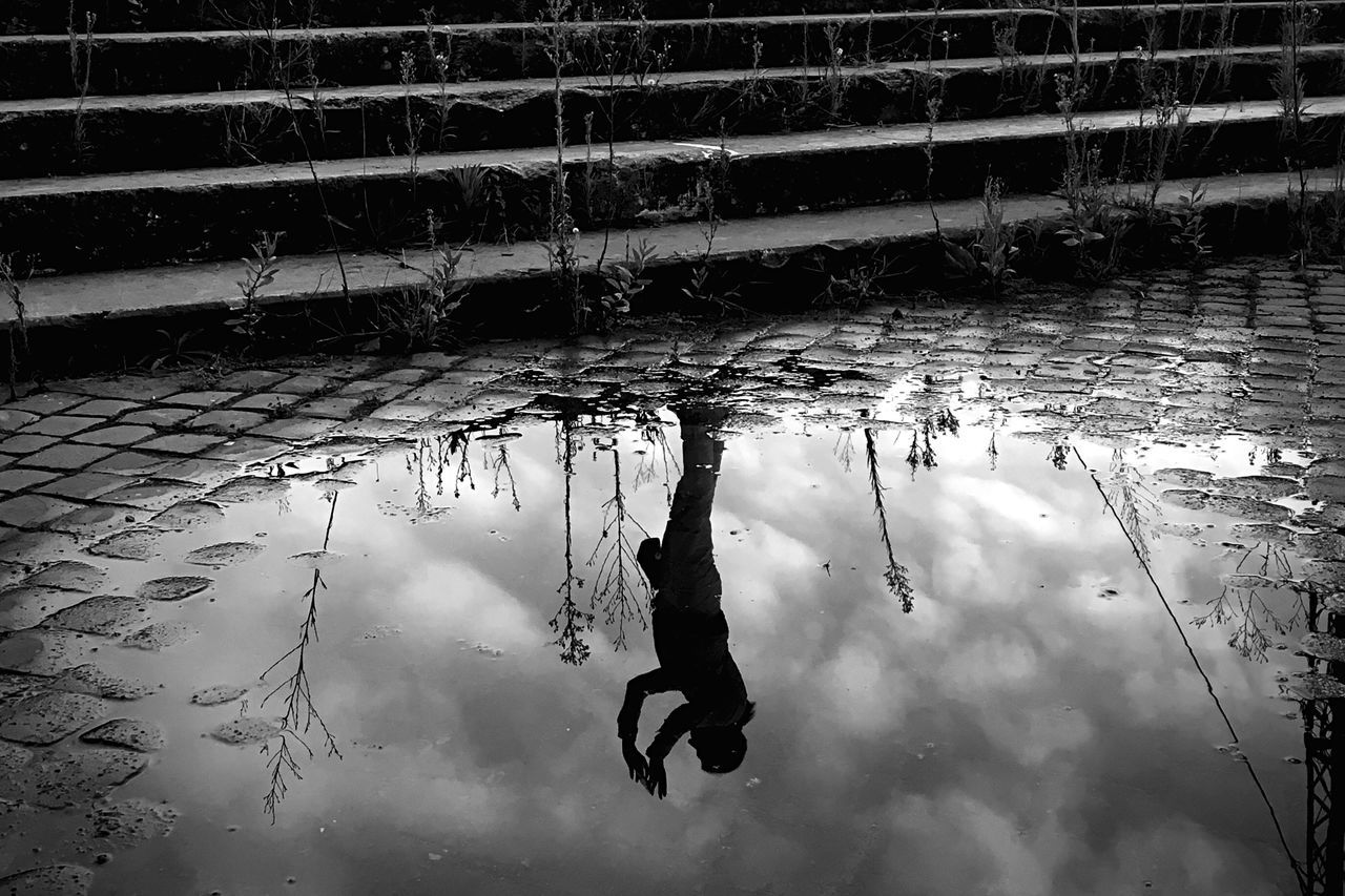 When in Rome 004 Water Reflection Person Black And White Photography Black & White VSCO Blackandwhite Shootermag AMPt - Street Rome