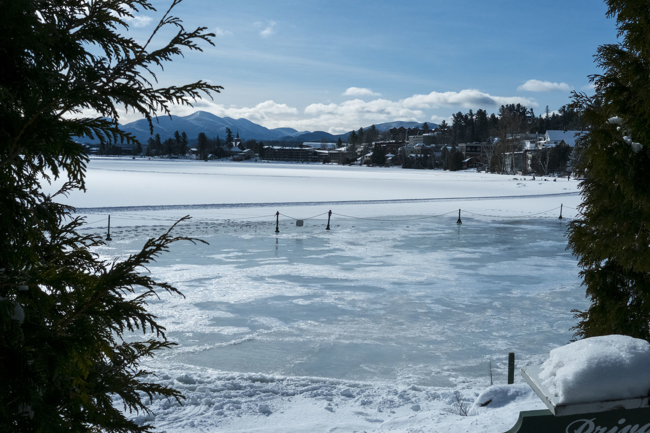 From the shore of a frozen Mirror Lake Adirondack Mountains ADK Beautiful Blue Sky Calm Copy Space Escapism Ethereal Frozen Lake Goodlookingpics Idyllic Lake Lake Placid Lakeshore Mountains Outdoors Reflection Release Scenics Tranquil Scene Tranquility Water Waterfront Winter Winter
