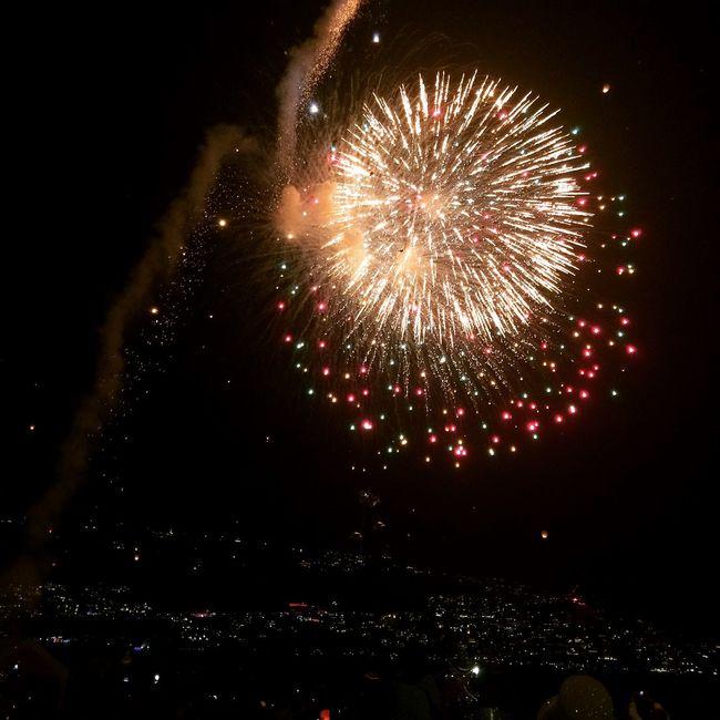 Acapulco Guerrero Mexico AñoNuevo 2015 Fuegos Artificiales