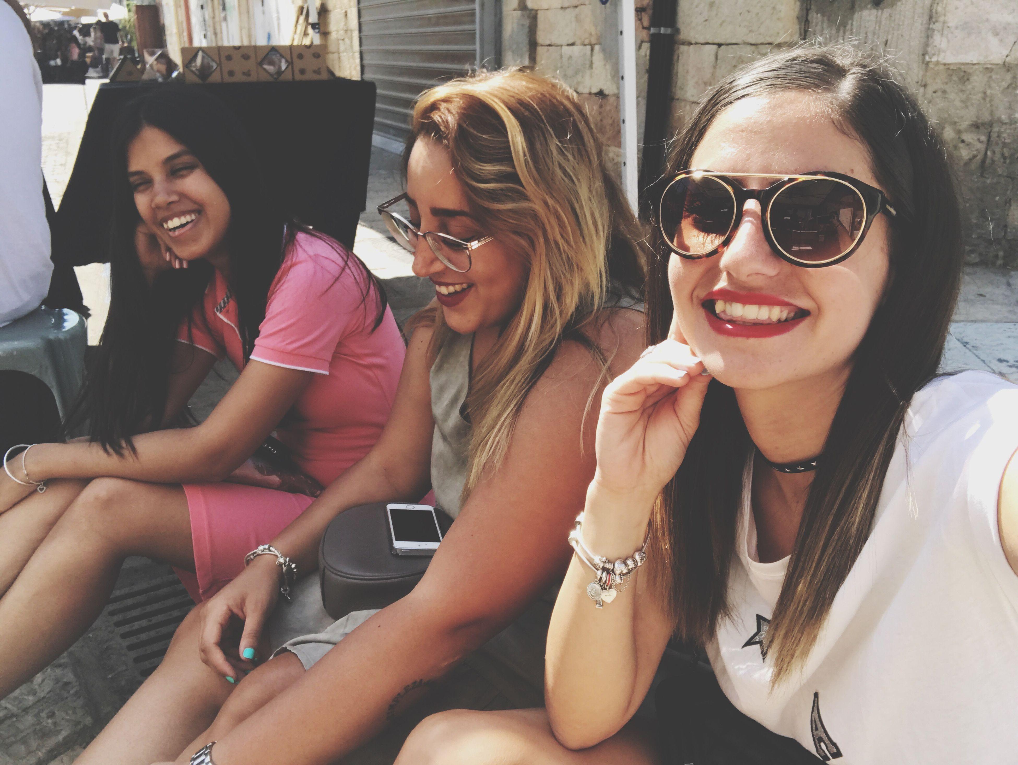 smiling, selfie, friendship, no people
