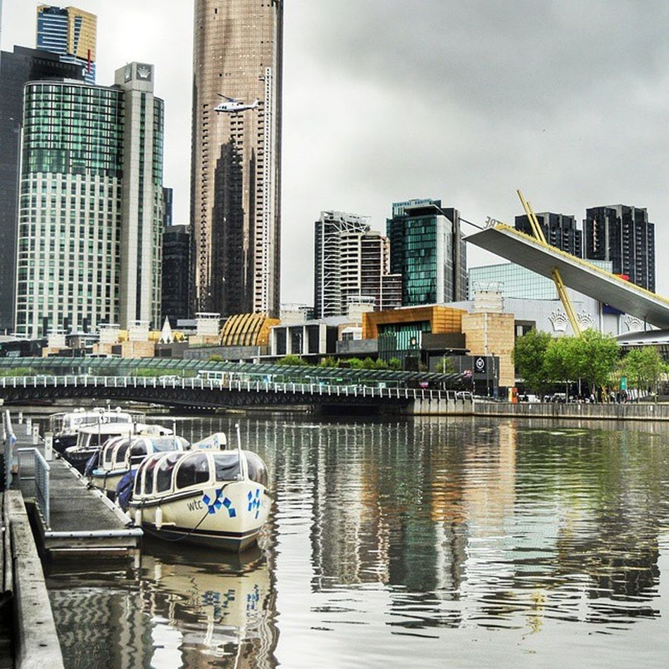 Yarrariver Helicopter Watertaxis Melbournewatertaxis Jeffsshed Reflections CrowncasinoMelbournecity Melbourne