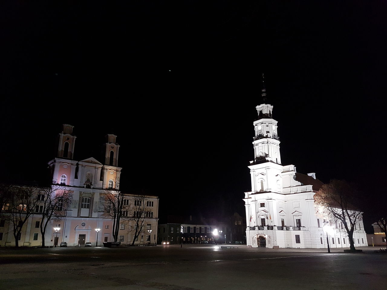 Night Photography Kaunas At Night Samsung Galaxy S7 Edge