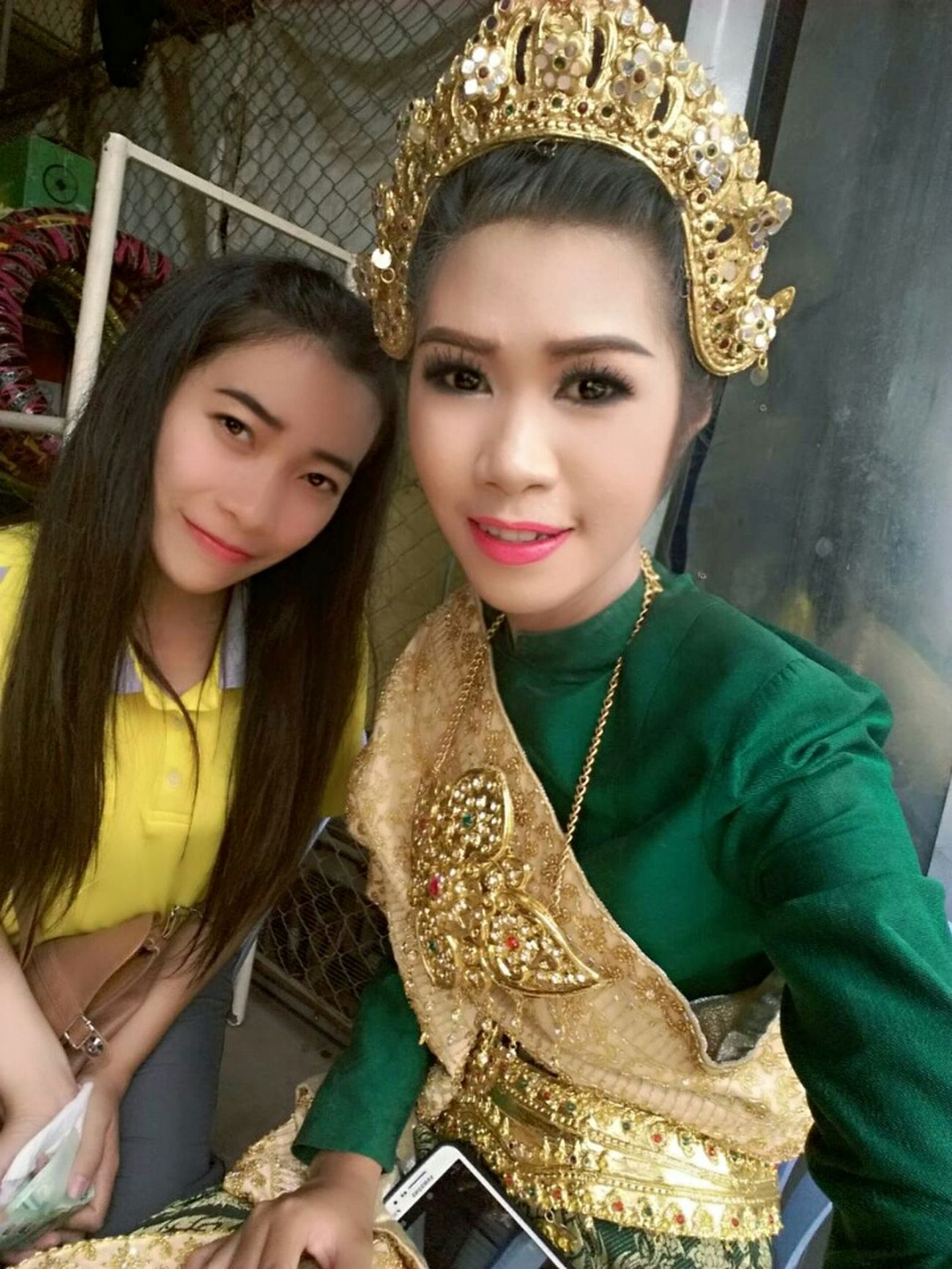 Thai dress 😃😊 That's Me Hello World Self Portrait Selfie✌ Thai Girls Thailand Thai Dress Enjoying Life Faces Of EyeEm Asian Girl