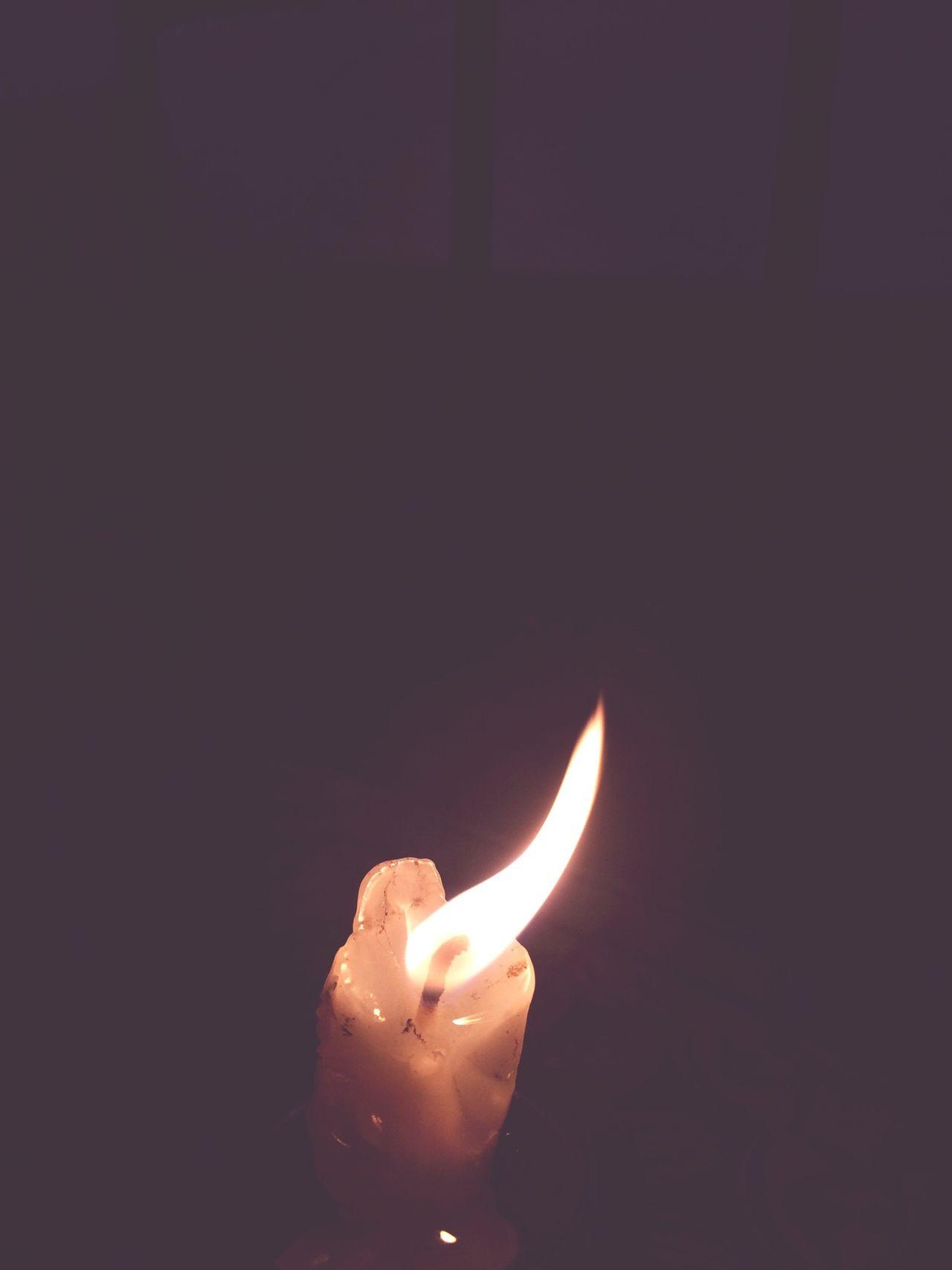 Candle Dark Night Omen Rain Death