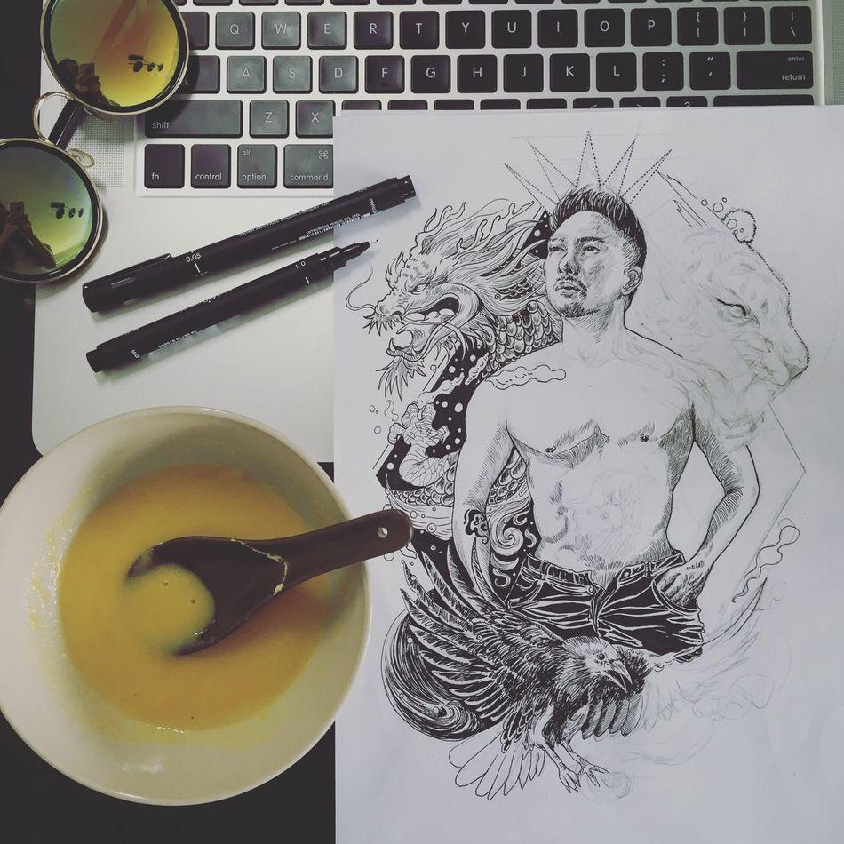 Working in progress Shanghai, China Inkart Inkartist Blackandwhite Dailyphoto Doodle Workinprogress