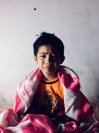 """""""I want my mum"""" every kids in this world People One Person Elementary Age Childhood Real People Front View Black Hair Boys Looking At Camera Lifestyles Indoors  Portrait Sitting Day EyeEmNewHere Missmymum EyeEmNewHere"""