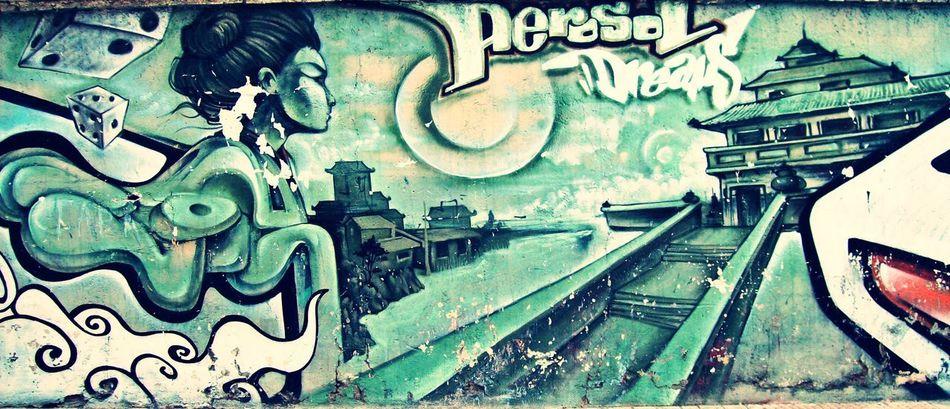 Art Is Everywhere Break The Mold Close-up Creativity Day Graffiti Oriental Design Outdoors Street Art Street Art/Graffiti Streetphotography