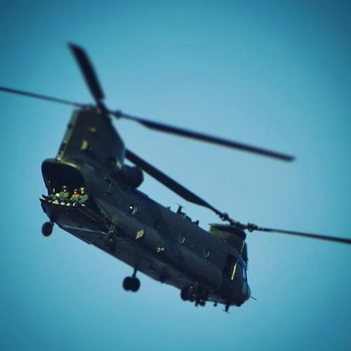Enjoying the view flying over the Thames London Helicopter Chinook Raf Army Flying Flight Sky Rotors
