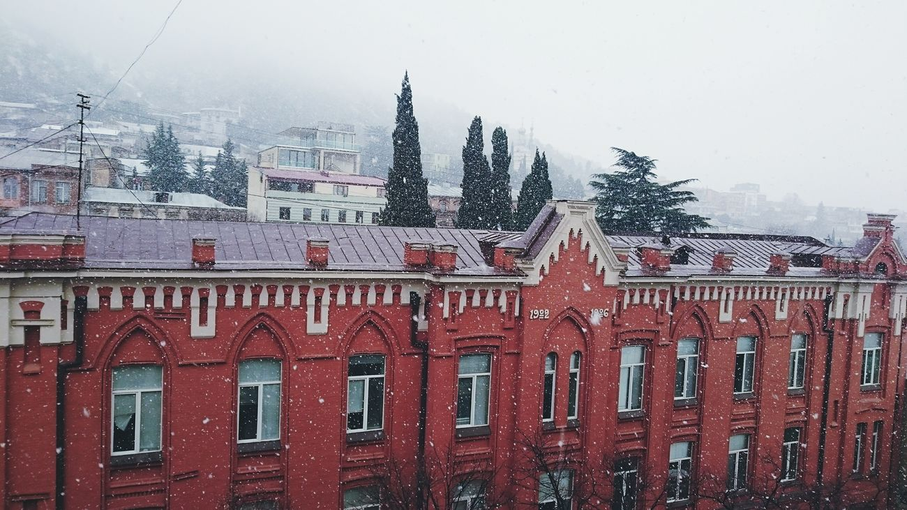 View from Tbilisi State Academy of Arts Snow Architecture 1900s