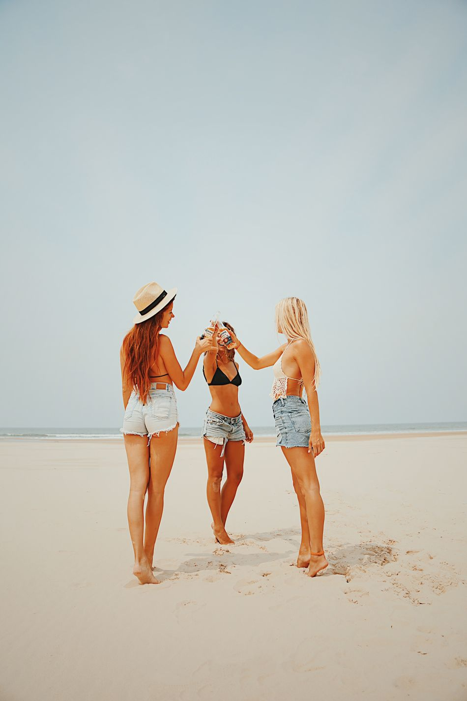 Beautiful stock photos of freundschaft, beach, real people, sand, rear view