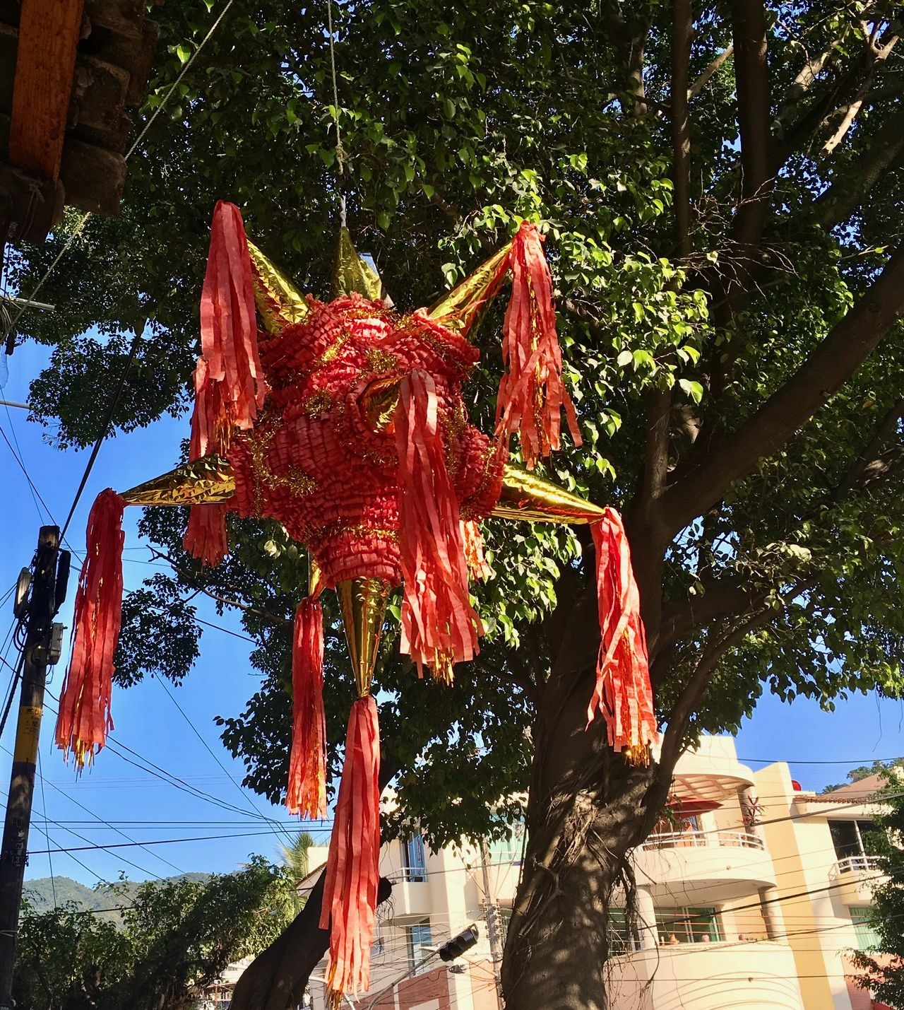 Piñata times Traditional Culture Day No People Built Structure Mexican Culture Sky Piñata Red Blue Sky
