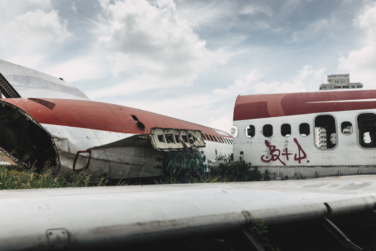 Abandoned Abandoned Places Adventure Airplane Broken Graffiti Outdoors Sky Travel Photography Urban Exploration Urbex Wing